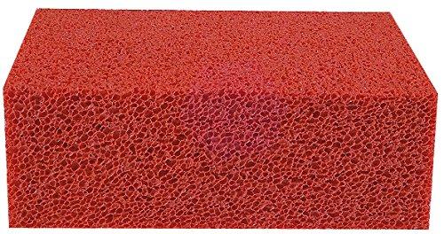 Stubai 419445 - Esponja para baldosas grande (goma natural, 130 x 90 x 45 mm) color naranja