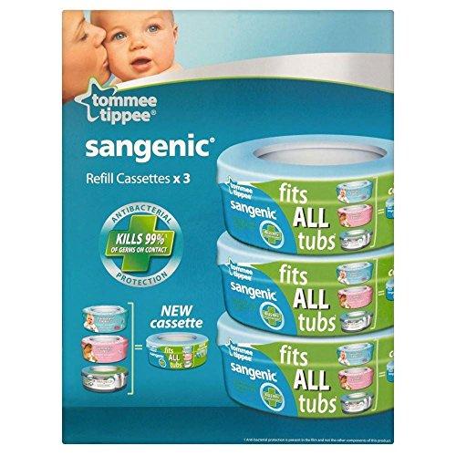 Tommee Tippee Sangenic Hygiene Plus Windel Wrapper Wechselkassette 0Mth + (3)