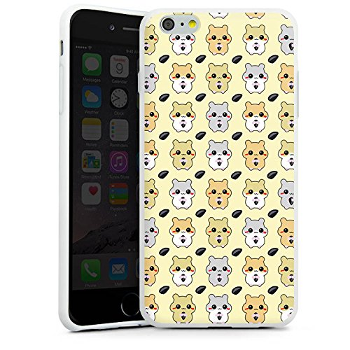 Apple iPhone X Silikon Hülle Case Schutzhülle Hamster Kawaii Süß Silikon Case weiß