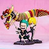 Sconosciuto Toy Statue One Piece Toy Model Collezione di Personaggi dei Cartoni Animati Souvenir Festival di Capodanno Sauron Mountain Governance Dragon Double 15CM