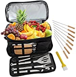 Best Grill Tool Sets - ROMANTICIST BBQ Grill Accessories Tool Set with 15 Review