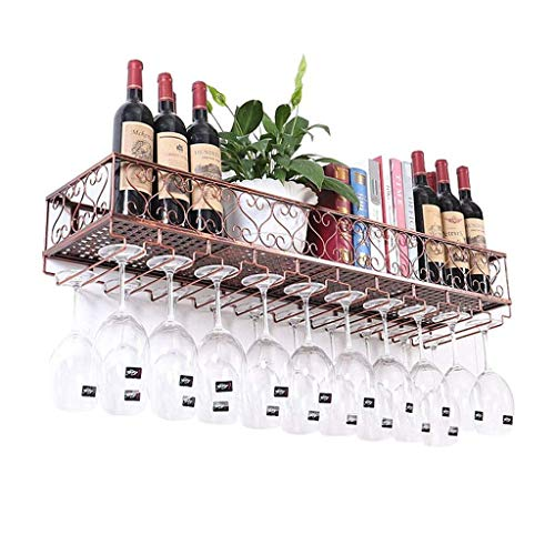 Weinglasregal umgedreht Weinregalbar Bar Weinglasregal Becheraufhänger, der Rotweinglas hängt Weinglashalter (Color : Bronze, Size : 100 * 25CM) ()