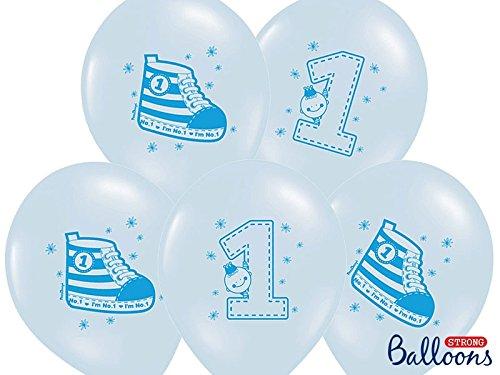 Palloncini-in-Lattice-stampa-1-Compleanno-CelesteAzzurro-Bimbo-12-pcs