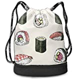 RAINNY California Roll Sushi Drawstring Bag for Men & Women - Cinch Backpack Sackpack...