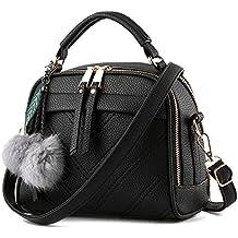 Mujer Bolso de mano pequeño bolso de hombro bolsillos piel bolsillos bolso Shopper