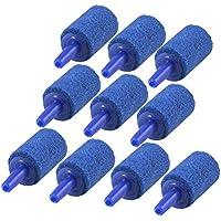 UEETEK Acuarios Piedras Difusor Porosa Aire Oxigenador Bomba (Azul)- 10 Piezas