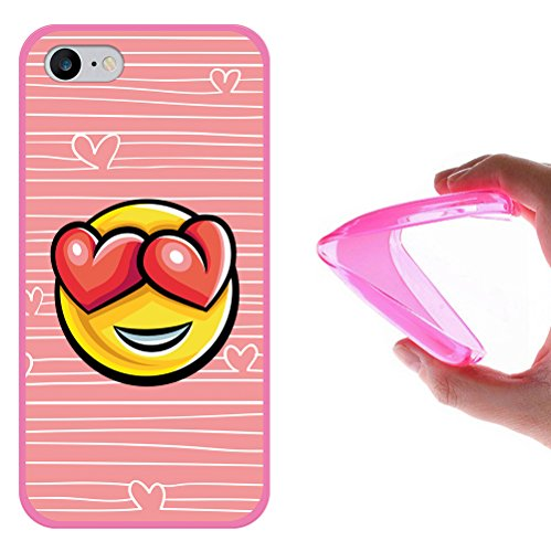 iPhone 7 Hülle, WoowCase Handyhülle Silikon für [ iPhone 7 ] Donuts Handytasche Handy Cover Case Schutzhülle Flexible TPU - Rosa Housse Gel iPhone 7 Rosa D0396