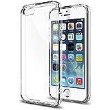 Spigen Schutzrahmen für iPhone SE/5S/5 Ultra Hybrid [Air-Cushion Kantenschutztechnologie - Bumper Case] durchsichtige Rückschale und transparenter TPU-Bumper, [Crystal Clear SGP10640]
