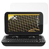 atFoliX Panzerfolie kompatibel mit GPD Win Schutzfolie, entspiegelnde und stoßdämpfende FX Folie (3X)