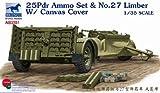 Bronco Models AB3551 - Modellbausatz 25pdr Ammo set und No.27 Limber Canvas Cove