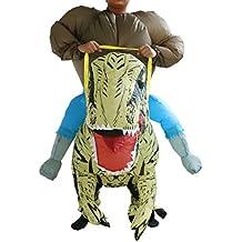 Partido del Traje de Equitación Disfraces Halloween Inflable T-Rex Dinosaurio