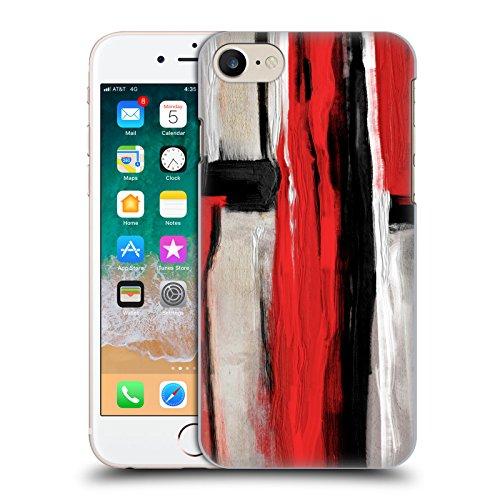 Ufficiale Giulio Rossi Astratto Collezione Pennellate Cover Retro Rigida per Apple iPhone 5 / 5s / SE Rosso