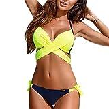 Evedaily Costume da Bagno Donna Push Up Capestro Bikini...