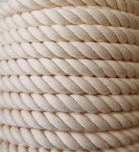 Großhandel für Schneiderbedarf 3 m Baumwollkordel 10 mm beige