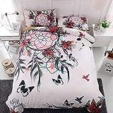 BEDSETAAA Bettwäsche Artikel Vier Stück Anzug Polyester Baumwolle 3D Digitaldruck Bettbezug Blatt Kissenbezug Dreamnet Serie 200x229cm A