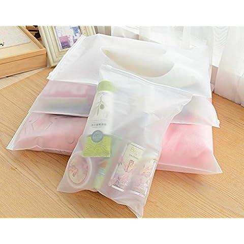 Set di 5 moda Corea Viaggi portatile impermeabile multifunzione in plastica armadio Storage Bag con cerniera