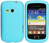 Luxburg® In-Colour Design funda protectora para Samsung Galaxy Mini 2 GT-S6500 en color azul, funda carcasa de silicona