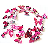 12pcs 3D PVC Magnet Butterflies DIY Wall...