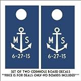 Anchor Cornhole Board Aufkleber Set von zwei Aufkleber Bewertung und Vergleich