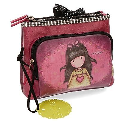 Santoro Gorjuss Heartfelt Beauty Case 3 Cremalleras Make Up Bag Bolsos Neceser Vanity Estuche