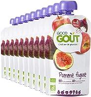 Good Goût - BIO - Purée de Fruits Pomme Figue Bio Dès 6 Mois - Pack de 10