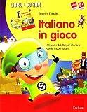 Italiano in gioco (Kit). 44 giochi didattici per allenarsi con la lingua italiana. Con CD-ROM (Software didattico) di Pontalti, Beatrice (2008) Tapa blanda reforzada