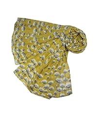 Accessorize-Me New tamaño grande flotante Retro envoltorio traje de neopreno para mujer de diente de león bufanda chal para de horóscopo