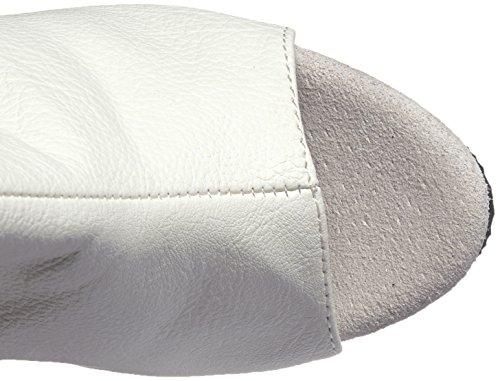 Pleaser  DELIGHT-3019, chaussures compensées femme Wht Faux Leather/Wht