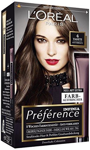 L\'Oréal Paris Préférence Coloration Naturbraun 4, 3er Pack (3 x 1 Colorationsset)