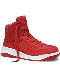 Elten Calzado de Protección Para Hombre, Color Rojo, Talla 45 UE