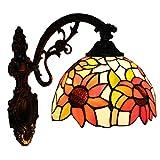 Fabakira Wandleuchte Wand Licks Stil Tiffany Barock Schlafzimmer Licht Lampenschirm Glas Dekorative