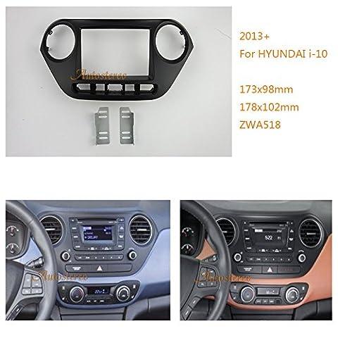 autostereo 11–518Adaptateur autoradio façade d'autoradio 2DIN Cadre Surround pour Hyundai I-10modèles 2013+ Voiture Radio/Façade d'autoradio d'installationAutostereo 11-518 Façade d'autoradio 2DIN pour Hyundai i-10 2013+
