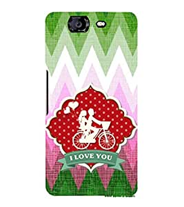 EPICCASE love ride Mobile Back Case Cover For Micromax Canvas Knight A350 (Designer Case)