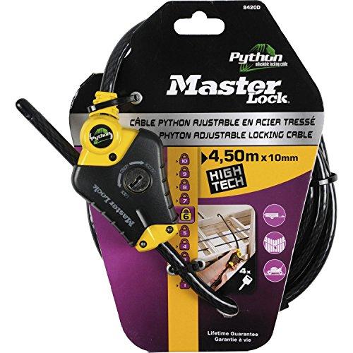 Preisvergleich Produktbild Master Lock 8420EURD Python Kabelschloss,  Schwarz