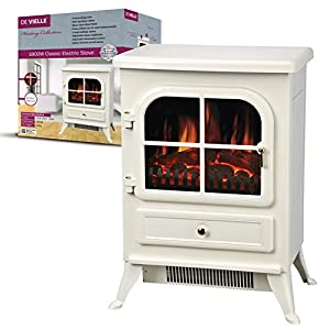 De Vielle Classic Electric Stove, Metal, Cream