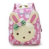 Flyingsky Rabbit Animals Kids Book Backpack Baby Girls School Bag