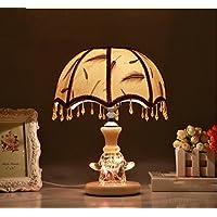 Creativo Lampada da tavolo Camera comodino lampada moderna semplice tabella stili rurale Lampada europea Wedding caldo Sezione Feather Lampada da tavolo ( colore : # 3 )