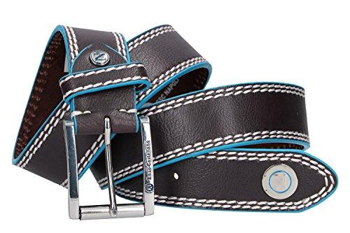Preisvergleich Produktbild Gürtel Mann NAPOLI ENZO CASTELLANO blau mit nähten 120 cm VR515