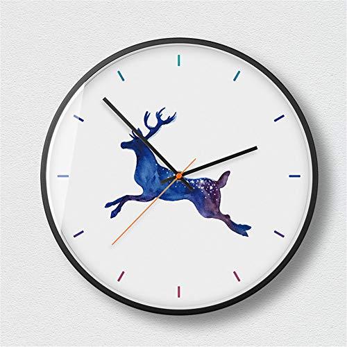 LYJZH personalisierte Kreative Wanduhr Uhr Mode einfache Wohnzimmer Küche Restaurant Schlafzimmer Wanduhr Wohnzimmeruhr kreative Kunst geheimnisvoll schwarz - 3 14 Zoll