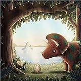 Posterlounge Leinwandbild 120 x 120 cm: Ein Neuer Dinosaurier von Emma Chadwick - fertiges Wandbild, Bild auf Keilrahmen, Fertigbild auf Echter Leinwand, Leinwanddruck