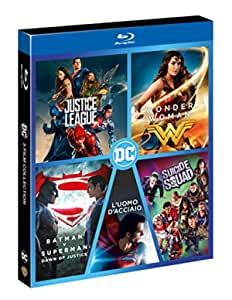 Boxset Dc 5 Film (Justice League,Wonder Woman,Suicide Squad,L'Uomo D'Acciaio,Bat