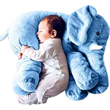 Minetom Bebé y Niños Confortable Suave Peluche Almohada de Felpa Elefante Peluche Animal Cojin