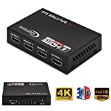 4K*2K HDMI Splitter Qoosea 4 Port Ultra HD 1080p Full HD 3D HDMI Verteiler