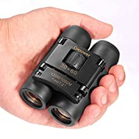 DFlamepower 30x60 Compact Folding Binoculars Telescope with Low Light Night Vision for kids /adults/outdoor birding/ travelling/sightseeing/ hunting, etc