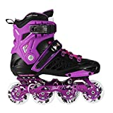 Beauty leader Pattini a rotelle regolabili in linea per skateboard per uomini e donne, Purple, 34-35