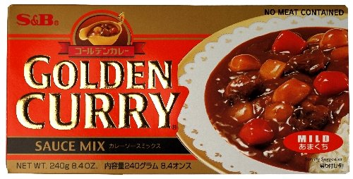 S&B Golden Curry Sauce Mix, Mild, 8.4-Ounce (Goldener Curry Mix)