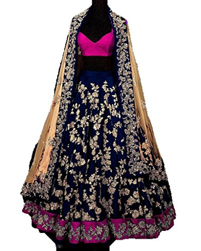 FebForrest Women\'s Blue Banglory Designer Lahenga Choli [SL 15(FF_A1471)]