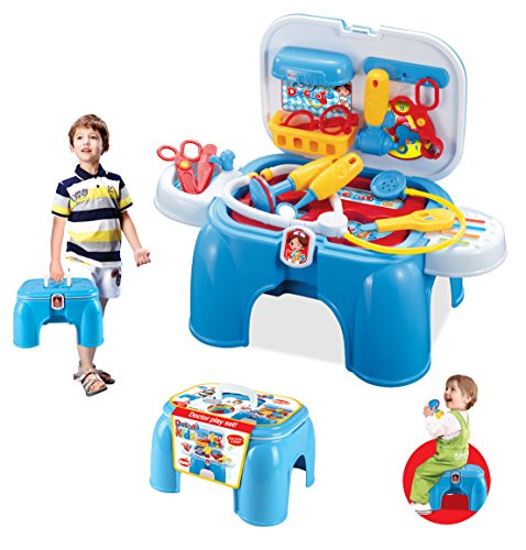 Set Doktorkoffer Arztkoffer Kinder Arzt Spielkiste Spielbox Arztutensilien NEU