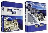 2Stück Alben BILDER Grindy Blue Sky 200Fotos 10x 15cm Pro Album im Geschenkkarton, Einband aus Glanzpapier Gedruckt Auf Das Thema der griechischen Inseln–2Bilder pro Seite, Maße: 19,5x 24cm–Entweder 400Fotos zu klassifizieren mit diesem Pack