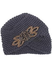 Lenfesh Sombrero de Tejer Caliente de Las Mujeres Trenzado capuchón de  Tocado de Turbante para el 1cffda9e487